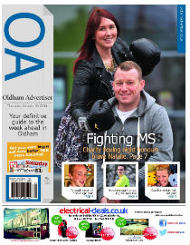 Oldham Advertiser front page image