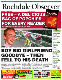 Rochdale Observer front page image