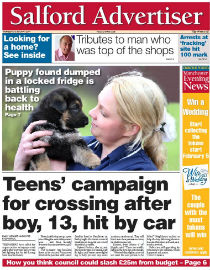 Salford Advertiser front page image