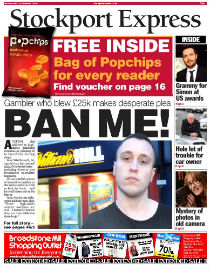 Stockport Express front page image