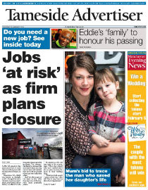 Tameside Advertiser front page image