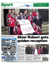 Rossendale Free Press back page image
