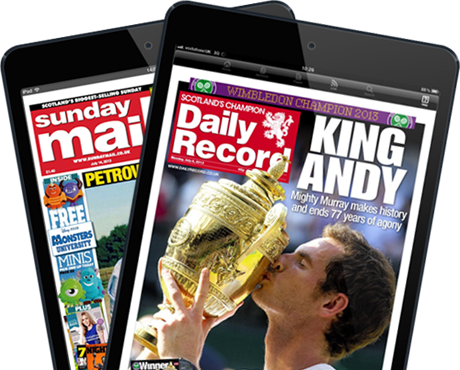 Daily Record and Sunday Mail cover