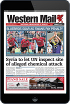 Download the Western Mail E-Edition for iPad and Android tablets