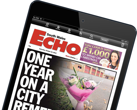 Download the South Wales Echo E-Edition for iPad and Android tablets
